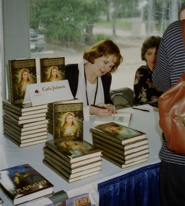 book signing for Diamond in the Dust